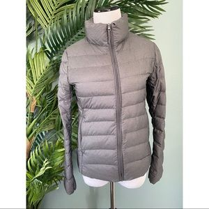 Uniqlo ultra light down grey packable jacket